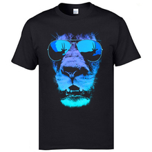 Hip Hop Rock Jazz Tshirts Vintage Hungry Lion 3D Printed T Shirt Mens Cotton Short Sleeve Crazy Top T-shirts Free Shipping