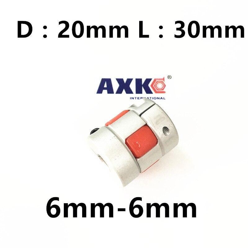 5pcs CNC jaw spider Coupler 6mm*6mm shaft Coupling 6mm to 6mm D20mm L30mm