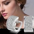 Стерлинг-серебро-ювелирные изделия pendientes mujer серьги 925 плата brincos earing stud orecchini oorbellen женщин кристаллические ювелирные изделия 10