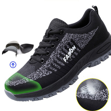 Summer Breathable and Light Safety Shoes for Men Women Composite Steel Toe Punct
