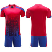 Football Sets Shorts Sleeve Top And Jersey Training Suit Clothes Set For Men Soccer Uniform Quick