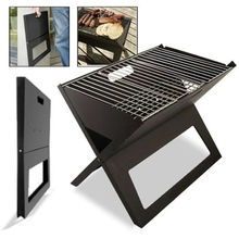 Folding Grill -Charcoal Bbq Portable Thicken X-type Carbon Mini Vertical Household Outdoor Oven Camping Grills Smoke