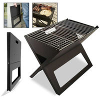 Folding Grill Charcoal Bbq Portable Thicken X type Carbon Mini Grill Vertical Household Outdoor Oven Camping Grills Bbq Smoke