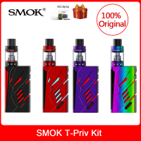 Original SMOK T Priv Kit 220W with V8 Big Baby Tank 5ml + V8 Baby Q2/T8 Coils + Glass Tube For Electronic cigarette T priv vape