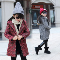The New 2016 British Children's Pointed Hat Woolen Cloth Coat Winter Coat Girl Children Children's Clothes