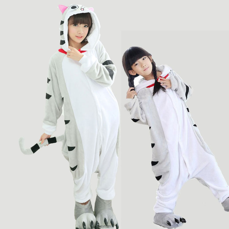 Adult Flannel Hooded Family Pajamas Sets Kawaii Cute Animal Onesie For Women Couple Winter Warm Pijamas Hombre TC021