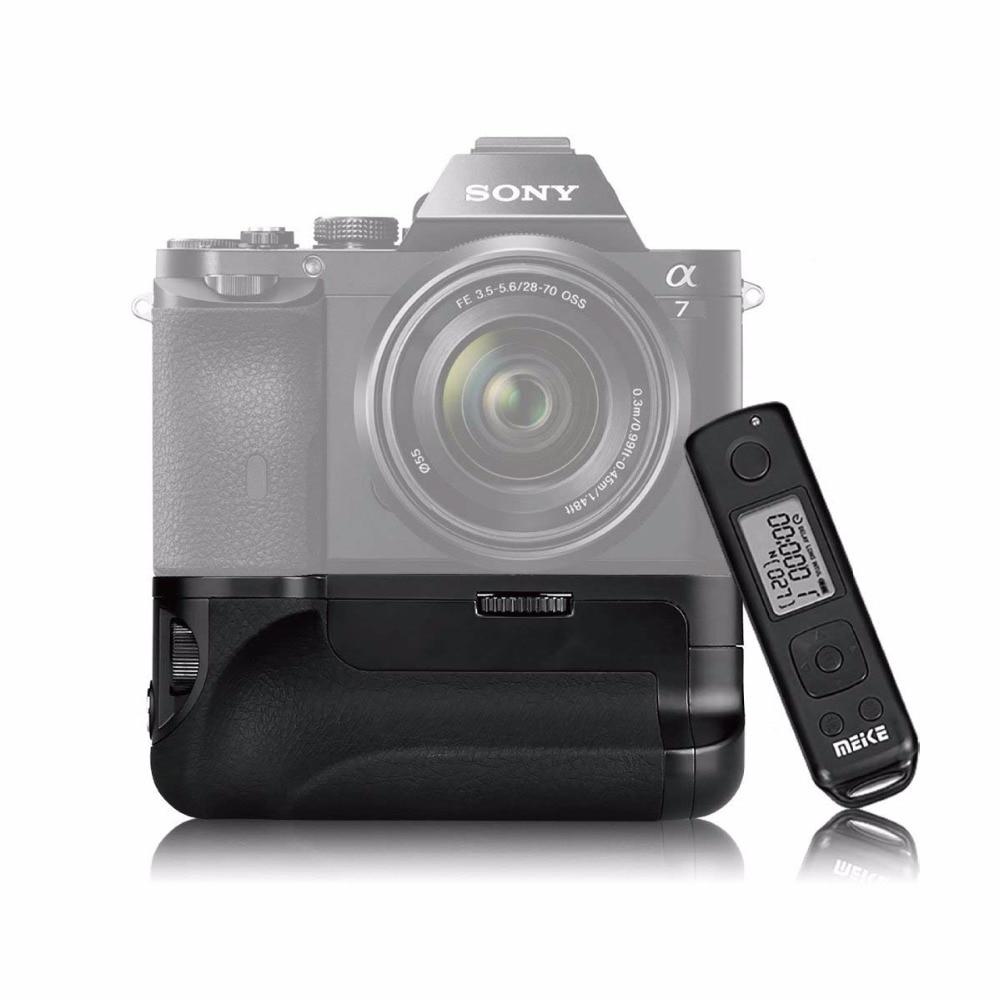 MEKE Meike Mk-ar7 Intégré 2.4g Sans Fil Télécommande Batterie Grip pour Sony A7 A7r A7s + CADEAU Batterie Caddy
