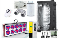Complete Grow Tent Indoor Hydroponic 120x120X200cm HPS Apollo 12 LED Grow Light 270W Greenhouse Garden Grow Kit Set up System