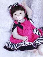 fashion boneca reborn silicone completa realista Doll Toy 55cm real Girls Babies lol Dolls Kid bebe reborn Brinquedos Toys l.o.l