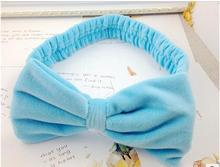 2017 Women Lovely Bow-knot Headband Stripe and Pure Color Headbands Wash Face Makeup and Beauty Hairbands