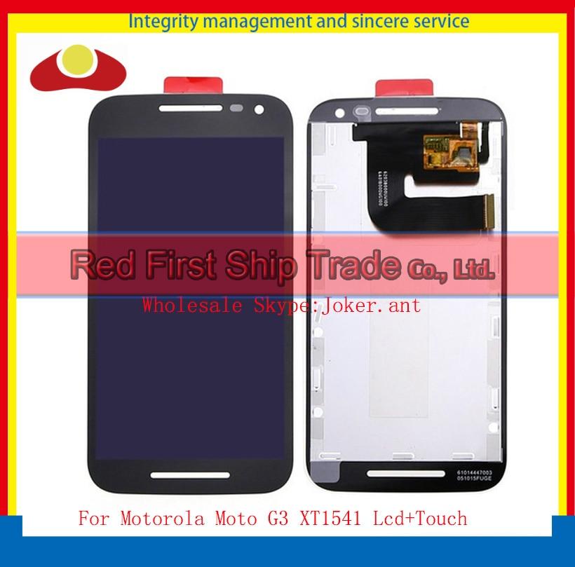 20Pcs/lot DHL EMS 4.5 For Motorola Moto G3 XT1541 Full Lcd Display Touch Screen Digitizer Sensor Assembly Complete White Black 2016 sale rushed 10pcs free dhl ems for motorola moto xt1254 touch digitizer lcd display 100