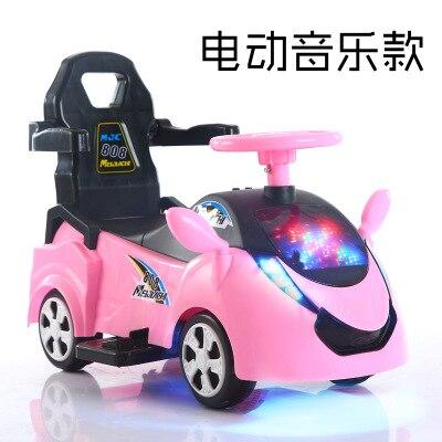 Enfants électrique à quatre roues jouet voiture 1-3 ans bébé Scooter avec musique Yo-yo bébé poussette bébé marcheur monter sur jouet voiture