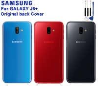 Samsung Original Batterie Zurück Abdeckung Tür Kunststoff Fall Für Samsung Galaxy J6 + Hinten Gehäuse Protective schutzhülle Telefon Fall