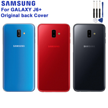Samsung Original Battery Back Cover Door Plastic Case For Samsung Galaxy J6+ Rear Housing Protective Back Cover Phone Case стоимость