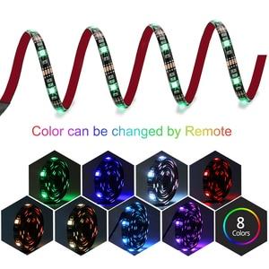 Image 3 - Usbli şerit LED 5050 RGB müzik denetleyicisi ses sensörü RF uzaktan kumanda ile IP20/IP65 müzik LED şerit ışık