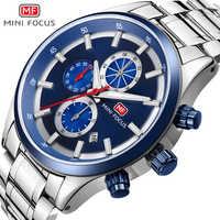 MINIFOCUS Luxury Brand Men Watches Stainless Steel Sport Watch Men Waterproof Analog Quartz Men's Wristwatches Relogio Masculino
