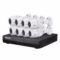 ESCAM NVR Kits PNK805 HD 1080p 4CH POE NVR Security System With Motion Detector Alarm Record