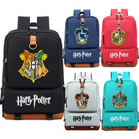 Slytherin Gryffindor Boy Girl Children School bag Women Bagpack Teenagers Schoolbags Canvas Men Student Backpack
