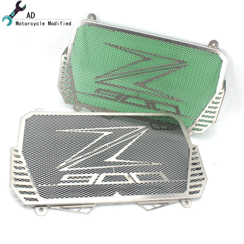 Motorcycle Radiator Grille Guard Covers Stainless Steel Protector Moto Parts Grill For KAWASAKI Z900 2018 2017 Accessories # car front bumper mesh grille around trim racing grills 2013 2016 for ford ecosport quality stainless steel