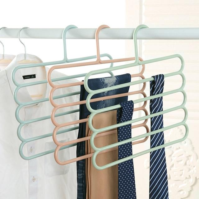 Multifunction Trousers Hanger Tie Scarfs Belt Towel Non Slip Magic Hanger  Storage Rack Clothes Hanger