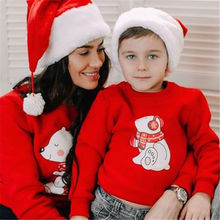 Купить с кэшбэком Emmababy Family Matching Outfits Christmas Clothes Top Nightwear Sleepwear Pajamas Newly Mother/Father/Kid Leisure Clothing