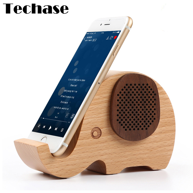 techase tier design holz bluetooth lautsprecher elefanten lautsprecher mit handyhalter funktion. Black Bedroom Furniture Sets. Home Design Ideas