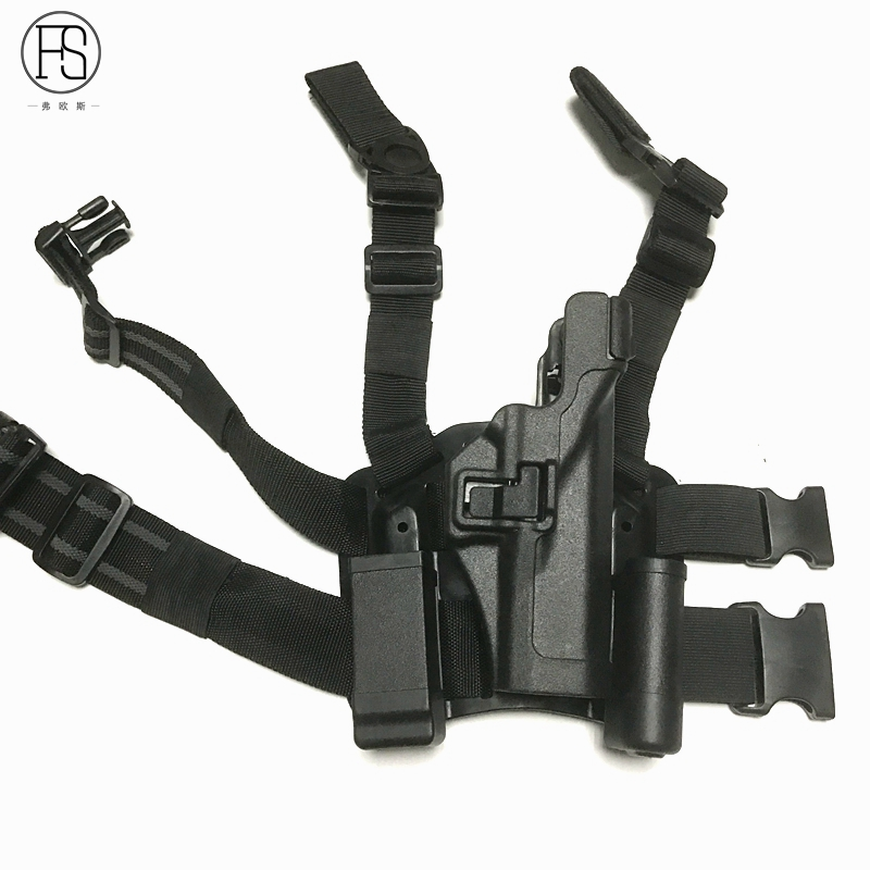 FS tactique CQC jambe militaire Combat cuisse chasse tir Compact RH Airsoft pistolet Holsters pour Glock 17, 19, 22, 23, 31, 32
