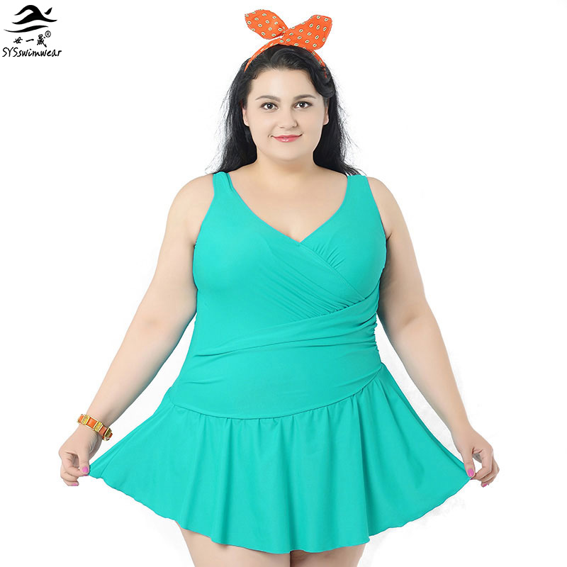 Women summer dress one piece swimsuits big women extra for Big beautiful women picture