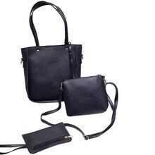 Женские комплект с сумкой женская кожаная сумка + клатч бумажник большой tote 2017 г. Роскошные брендовые