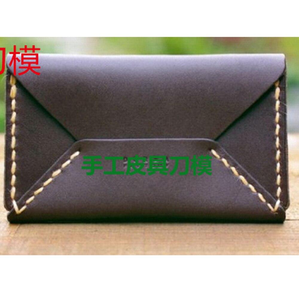 diy leather craft envelope shape name card holder wallet