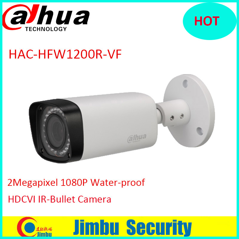 DAHUA  HAC-HFW1200R-VF 2MP CMOS 1080P IR 30M IP67 2.7~12mm vari-focal lens security camera HFW1200R-VF HDCVI Bullet Camera