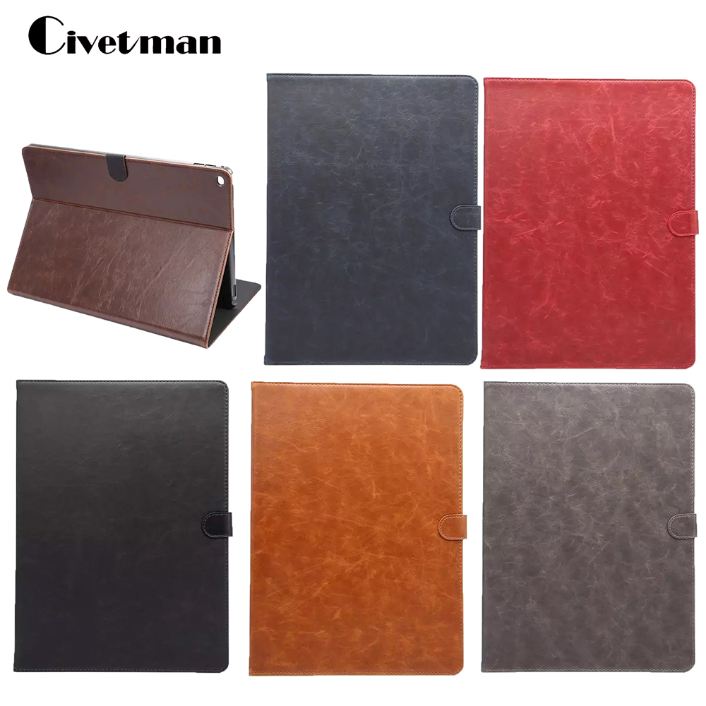 Civetman Classic leather case For Apple ipad Pro 12.9 inch Crazy Horse pattern stand book cover for ipad pro cover flip 9 inch tablets leather case crazy horse texture case with holder for onda v891w ramos i9s pro