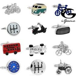 Ücretsiz Kargo 29 Tasarımlar Vintage Otobüs Kol Düğmeleri Yenilik Trafik Araba Tasarım Pirinç Malzeme