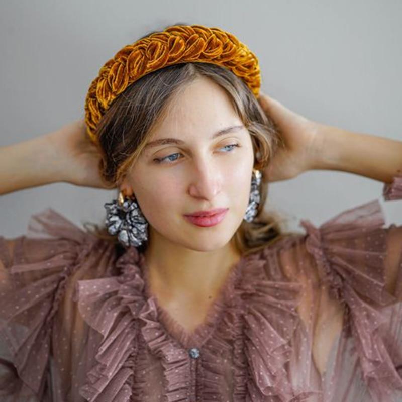 Fashion Women/'s Sequin Knot Headband Hairband Cross Wide Hair Hoop Accessories