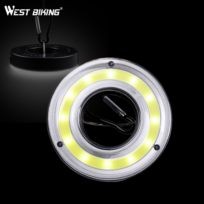 WEST BIKING Outdoor Tent Lamp Magnet Lamp Mini Portable Lantern Bicycle Sport Camping Light Hook Flashlight For Cycling 4 Design