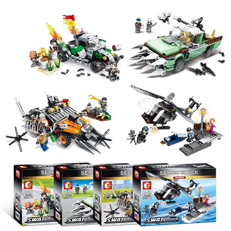 Modèle d'assemblage de 4-en-1 enfants puzzle jouets pour 102315-102318 Black Hawk spécial ForcesNo box