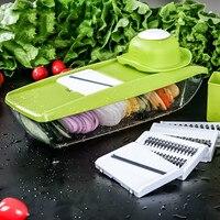 Mandoline Slicer Manual Vegetable Cutter With 5 Blades Multifunctional Vegetable Cutter Potato Onion Slicer Kitchen Tools