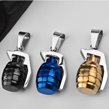 2019  hot Personality Hand grenade titanium steel couple necklace Fashion Grenade collars pendant jewelry