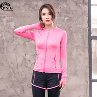 Sport Jacket Long Sleeve Women Fitness T Shirt 2017 New Winter Running Sports Gym Clothing Quick Dry Fit tshirt Female Yoga Tops