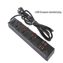 EU Plug USB Smart Power Strip Socket 2500w  Board Socket 5AC Outlets 4USB Charging Ports for Home Office plug