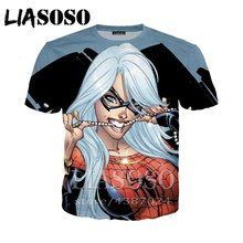 4c267fd1c LIASOSO Hip hop Men's tshirt Wonder Woman Superhero 3D print Supergirl  hooded cool homme Casual t