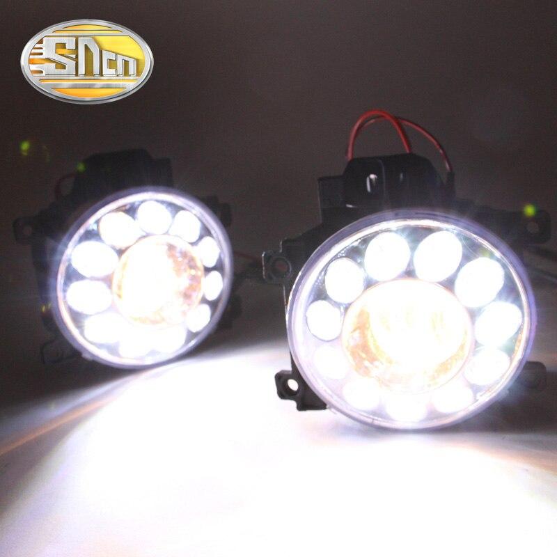 SNCN светодиодные фары дневного света для Тойота Ленд Крузер LC200 2013 - 2015,Автомобильные аксессуары Водонепроницаемый 12V DRL туман Лампа украшение