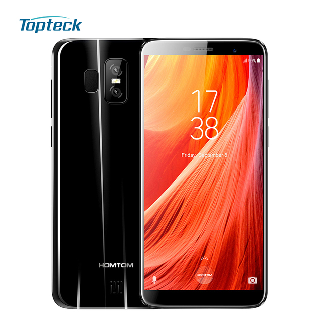 "HOMTOM S7 5.5"" 18:9 Bezel-less Full Screen Mobile Phone 4G Smartphone 3GB RAM 32GB ROM Quad Core Front 8MP Back Dual 13+2MP Cams"