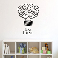 ZOOYOO Big Idea Lightbulb Idea Wall Stickers Home Decor Living Room Bedroom Decoration Kids Children Room