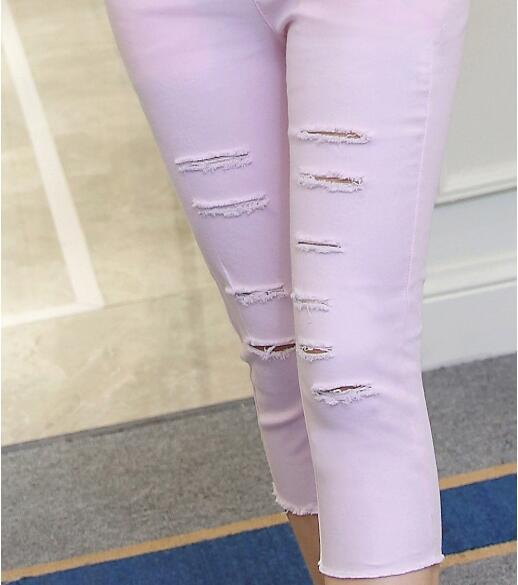 Summer Maternity Clothes Holes Maternity Pants Denim Shorts For Pregnant Women Pregnancy Jeans Capris Trousers Lady Clothing