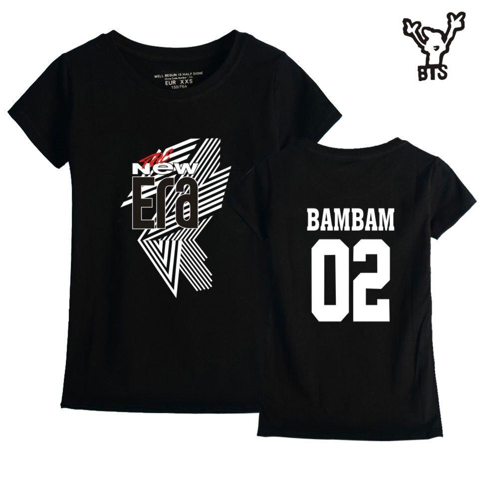 BTS GOT7 Kpop FM 2018 Funny Women 100% Cotton Cool Tshirt The New Era Fashion Hot Sale Fashion Lovely Sexy Short Sleeve 4XLA8080
