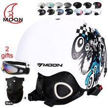 MOON Skateboard Ski Snowboard Helmet Integrally-molded Ultralight Breathable Ski Helmet CE Certification