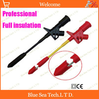 Free Shipping 2pcs 1pcs Professional Full Insulation Quick Test Hook With 4mm Banana Plug Automotive Insulation