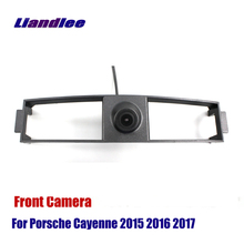 Liandlee AUTO CAM For Porsche Cayenne 2015 2016 2017 Front View Camera Logo Embedded ( Not Reverse Rear Parking )