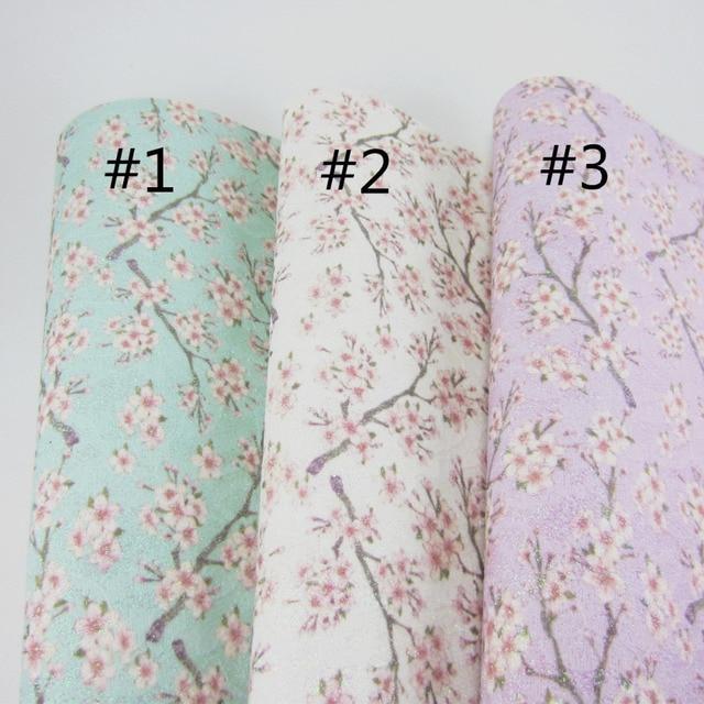 """Folha A4 8 """"X 11.8"""" Flor Chunky Glitter arcos de Tecido De Couro Falso Tecido de Couro do PLUTÔNIO Para O ofício de Costura DIY peças DIY F0055 1"""